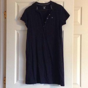 Land's End Navy polo dress